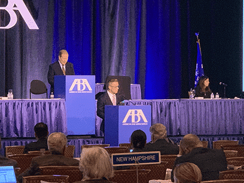 International Fertility Law Group Founder Rich Vaughn at ABA House of Delegates in support of 2019 ART Model Act