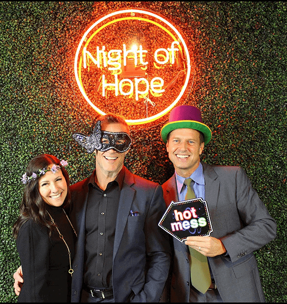 Mindy Berkson, Rich Vaughn, IFLG, and Tommy Woelfel at RESOLVE Night of Hope 2019