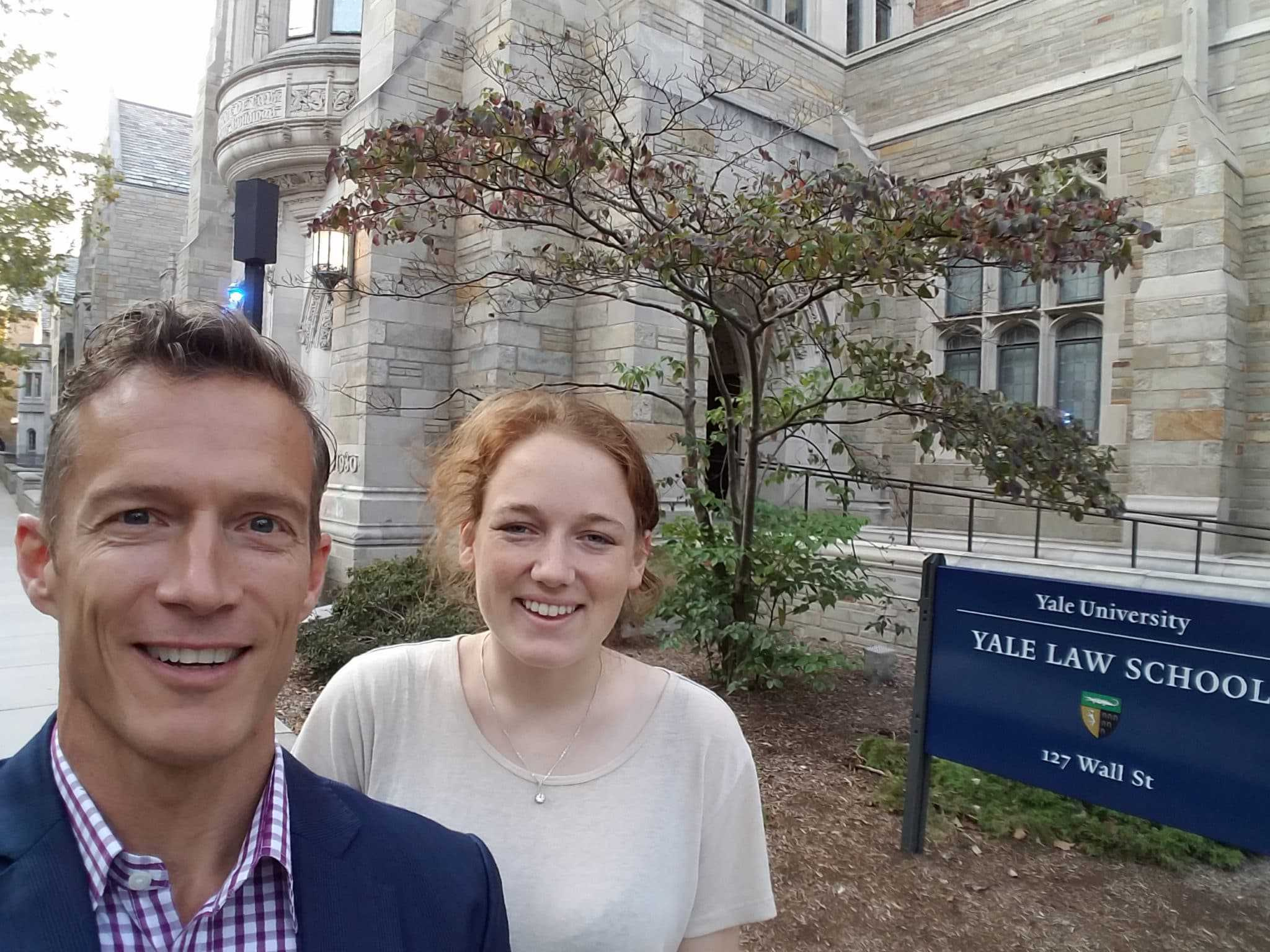 Rich Vaughn at Yale School of Law with Kyle Edwards of Yale Health Law and Policy Society