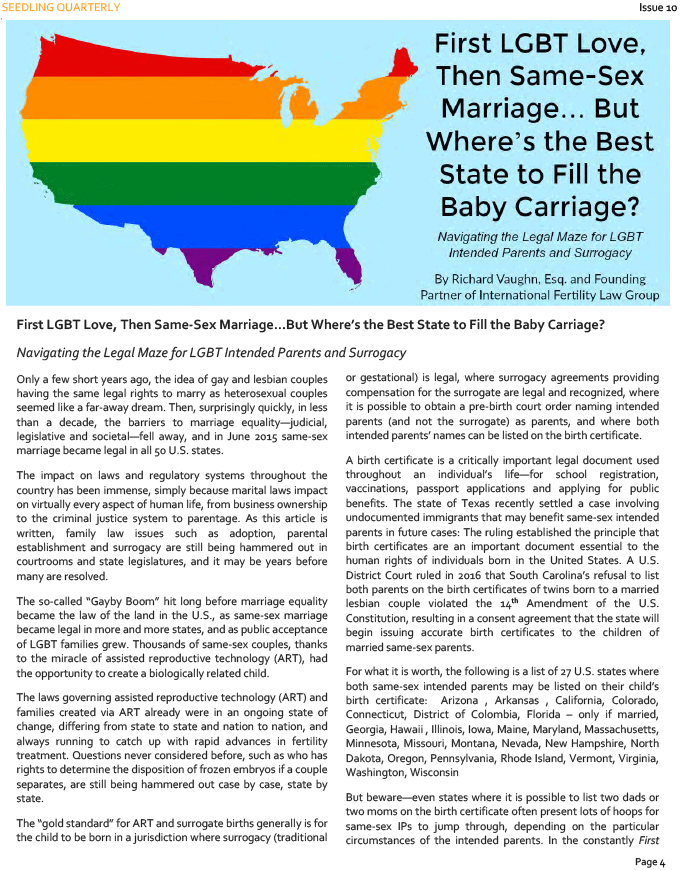 Rich Vaughn IFLG: Best States LGBT Surrogacy